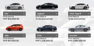 Honda Cars Philippines Prices