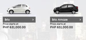 Honda Brio Cost / Price