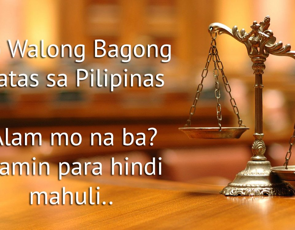 Philippines 8 New Laws