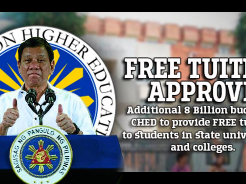 Philippines Free Tuition Fee for Universities and Colleges